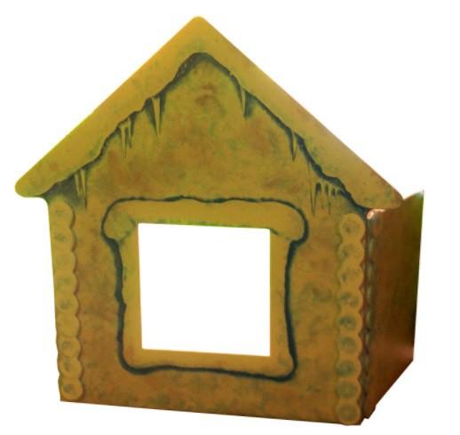 Как сделать декорацию избушки из картона