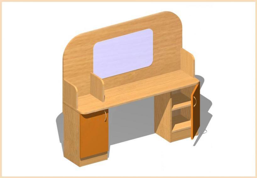 Логопедический уголок (лдсп) - оборудование для школ, учебны.